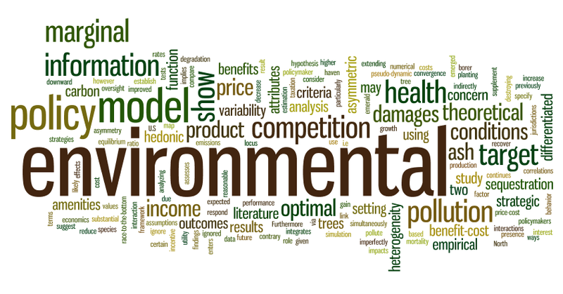 Environmental Economics: Thanks Tim for introducing me to Wordle, I