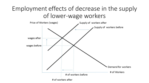 Decrease in supply of workers